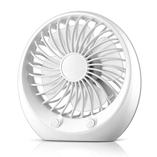 ZZUU Mini Ventilador, Ventilador USB Portatil Silencioso Recargable, 3 Modo De Velocidad...