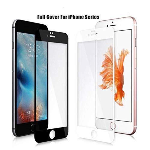Vikimen Ausgeglichenes Glas-Film, Schirm-Schutz, TOP Full Cover Tempered Glass 9H for iPhone XS Max XR 6 6S 7 7S Plus 10 X 8 4 4S 5 5S 5C SE Screen Protector Film Case 6.1