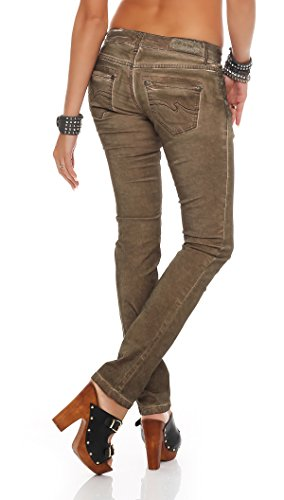 Blue Monkey Damen Jeans Manie BM-06 Brown