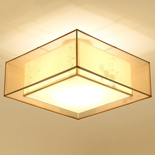 Preisvergleich Produktbild DENGJU Moderne chinesische quadratische Wohnzimmer-Schlafzimmer-Studie,  die Tuch-Deckenlampen speist (tragen Sie Nicht E27 Lichtquelle)