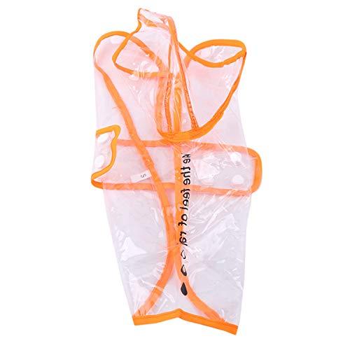 Winwinfly Cute Pet Puppy Dog Coat Wasserdichte Regenjacke Transparente Regenjacke Regenschutz Haustierzubehör,Orange