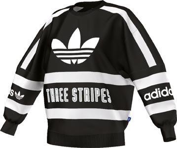 adidas Originals Women's Cotton Sweatshirt (B36940_Black and White_38)