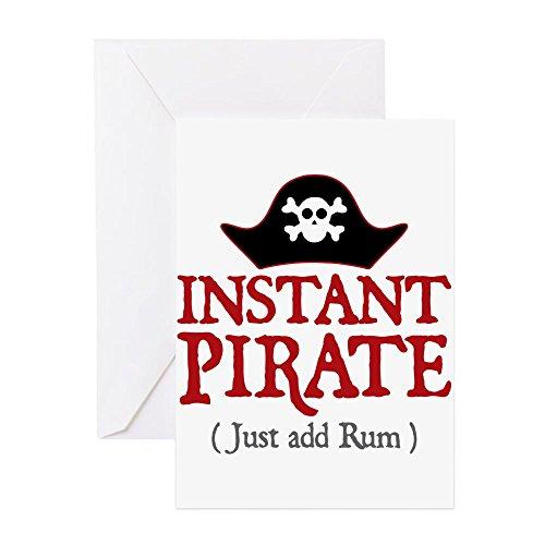 CafePress - Instant Pirate - Grußkarte, Notizkarte, Geburtstagskarte, blanko Innenseite glänzend