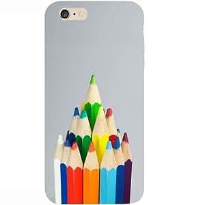 Casotec Pencil Design Hard Back Case Cover for Apple iPhone 6 Plus / 6S Plus