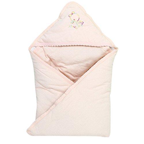 Smartstar Baby Holding Wrapped Swaddle Swaddling Tücher Blanket 100% Weich Dick Baumwolle (Cartoon Muster-Rosa)