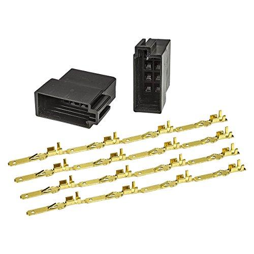 tomzz Audio ® 5800-125 ISO Buchse Gehäuse Montage Set Strom + Lautsprecher incl. Kontakte für Autoradio