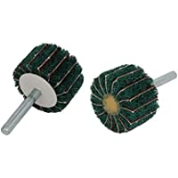 Portal Cool 6mm Schaft 40mm Dia Zylindrischen Kopf Nylon Fiber Abrasive Flap Rad 2 stücke