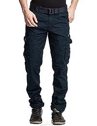 BEEVEE Men's Cotton Regular Fit Cargo Pants