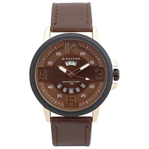 Giordano Analog Brown Dial Men's Watch image
