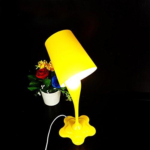 Lampe de table créative renversant de peinture de seau Lampe de bureau de Chambre Décoration de la maison