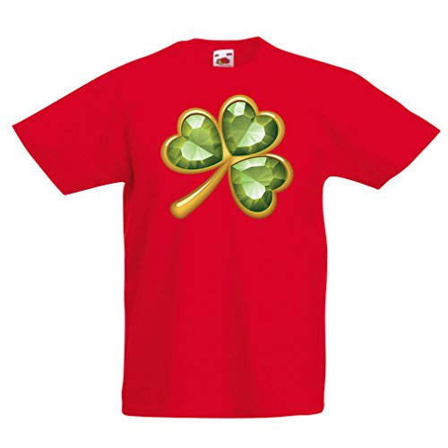 irt Irish shamrock St Patricks day clothing (14-15 years Rot Mehrfarben) (Halloween-songs Für Flöte)