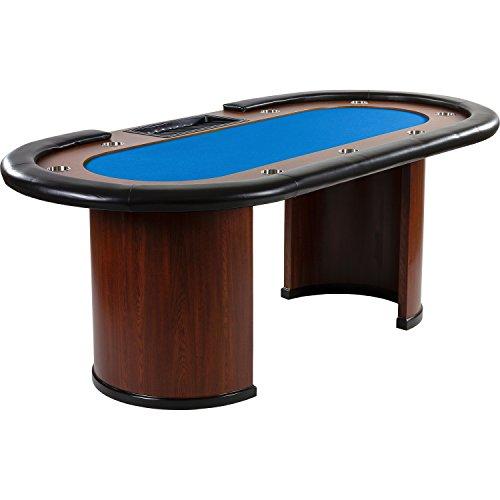 Maxstore Pokertisch ROYAL Flush, 213 x 106 x75 cm, Farbwahl, Gewicht 58kg, 9 Getränkehalter, gepolsterte Armauflage -