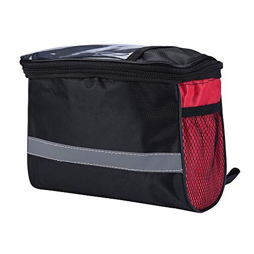 99native Fahrradtasche zur Befestigung am Gepäckträger,wasserdicht Fahrrad Rahmen Tasche schützen alle Ihre Wertsachen Gepäckträger Tasche Rucksack Seitentasche (Rot)