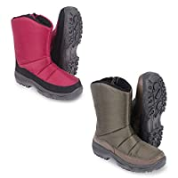 CLIFFORD JAMES Winter Snow Boots Warm Fleece Lined Full Length and Comfortable for Women with Touch Fastening