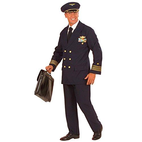 Blaues Kostüm Pilot Pilotenkostüm Piloten Uniform Flugkapitän Flug Kapitän Flugkapitän Captain Fasnet Fastnacht L 50/52