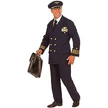 Blaues Piloten Kostüm Uniform Pilotenkostüm Pilot Fasching Karneval XL 54/56