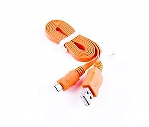 ba5i5Câble de données USB plat 95cm Orange pour Telefunken Live TL1, TL2