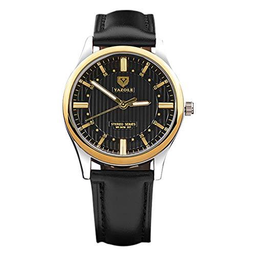 REALIKE Herren Quarzuhr Armbanduhr, Leder Armband Klassische Leucht Zeiger Outdoor Laufen Chronograph Uhren, Retro große Anzeige Sportuhr mit für Männer Cool Erwachsene Smart Watch