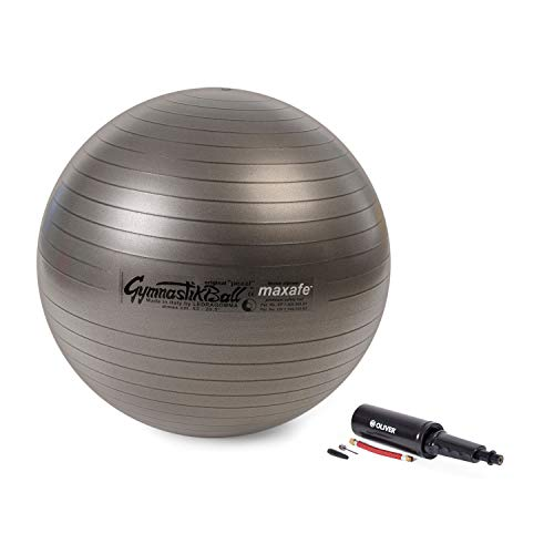 Original Pezzi Gymnastik Ball Maxafe 75cm +Pumpe PLUS Sitz Therapie anthrazit -