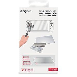 BigBen Nintendo Switch – Tempered Glass Screen Protector (Bilschirmschutz & Reinigungstuch)