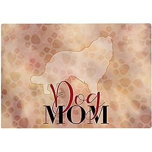 Cadouri Frühstücksbrettchen DOG MOM mit Collie Glasschneidebrett Schneidebrettchen – 28,5 x 20 x 0,4 cm
