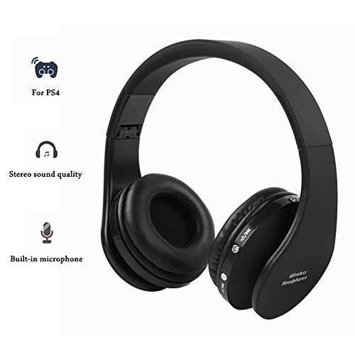 Auricolare da gioco wireless bluetooth con microfono, auricolare pro per ps4, auricolare stereo hi-fi pieghevole per cuffie, auricolari morbidi e confortevoli, funzione di cancellazione del rumore