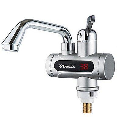 Küchenarmaturen digitale elektrische Warmwasserbereiter Kaltwasserhahn heißen Mehrzweck-Display Silber
