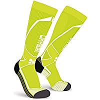 OxyBurn Run Evobright Knee High Energizer Compression Calcetines, Infantil, Vision/White, Size 45/47