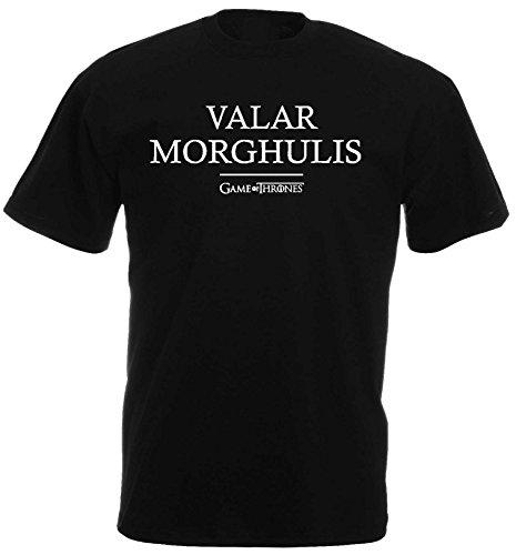 Game of Thrones VLAR MORGHOULIS Unisex T-Shirt Offizielles Lizenzprodukt|XL Herren Schnee