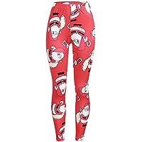 Yvelands Mujer Estampado Navideño Elástico Leggings Flacos Apretar Pantalones Lápiz De Cintura Alta Pantalones