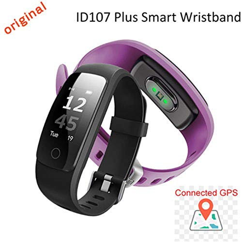 LWPCP Smart Watch ID107 Plus Bracciale Cardiofrequenzimetro Per Android Ios,Purple