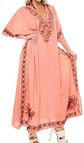 La Leela langen Strand Designer-Kleid Badebekleidung Badeanzug Kimono verschleiern Kaftan maxi Frauen Beige