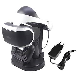 AmazonBasics - Ladestation und Ständer für die PlayStation VR, Schwarz (Für CECH-ZCM1x series PS Move Motion Controller )
