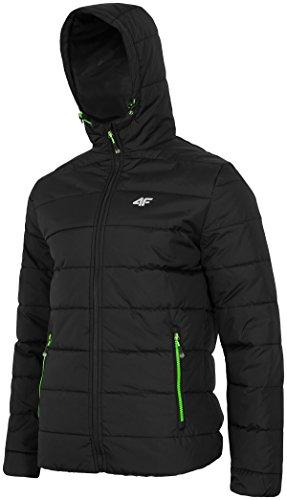 4F veste d'hiver à capuche pour chien plusieurs couleurs ** Noir - Noir