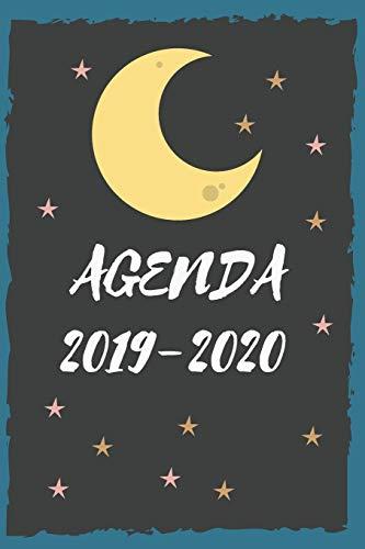 Agenda 2019 2020: Agenda scuola, Agenda Università, Agenda settimanale, Diario scolastico, Agenda giornaliera, calendario, programma provvisorio e ... orario lezioni,organizer, luna, stelle