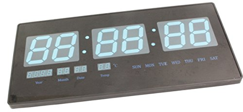 SJ JUMBO Electric Digital LCD LED Alarm Table Wall Desk Night Clock Thermometer-244  available at amazon for Rs.3699