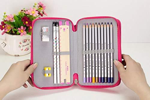 Tragbare Zeichnung Skizzieren Bleistifte Stiftetui Tasche für 32 Stifte HOT Pink
