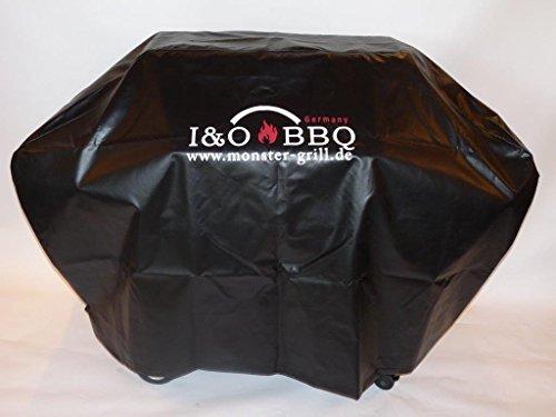 I&O BBQ ® Wetterschutzhaube, Abdeckhaube aus LKW-Plane für I&O BBQ ® 4S oder Grills bis 180cm m. Logo Lkw-monster-logo