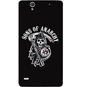 Casotec Sons Of Anarchy Design Hard Back Case Cover for Sony Xperia C4