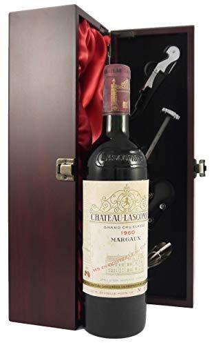 and Cru Classe Margaux 1960 75cl edler Wein in einer mit Seide ausgestatetten Geschenkbox. Da zu vier Wein Zubehör, Korkenzieher,Giesser,Kapselabschneider,Weinthermometer ()