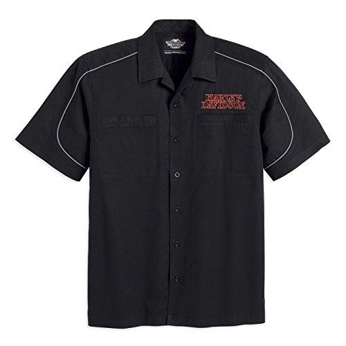 HARLEY-DAVIDSON® Men's Burning Skull Garage Shirt - 99004-16VM (3XL) - Snapdown Shirt