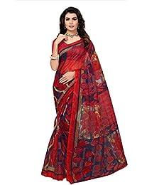 Indian Fashionista Women's Kota Dorie Saree With Blouse Piece (Printed Saree) (NM-KOTADORIE-KD19_Free Size_Red)