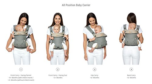 Ergobaby baby carrier collection 360 (5.5 – 15 kg), Black/Camel
