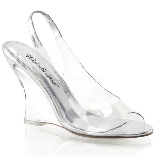 FABULICIOUS, Scarpe col tacco donna Multicolore (Clear-Silver/Clear)