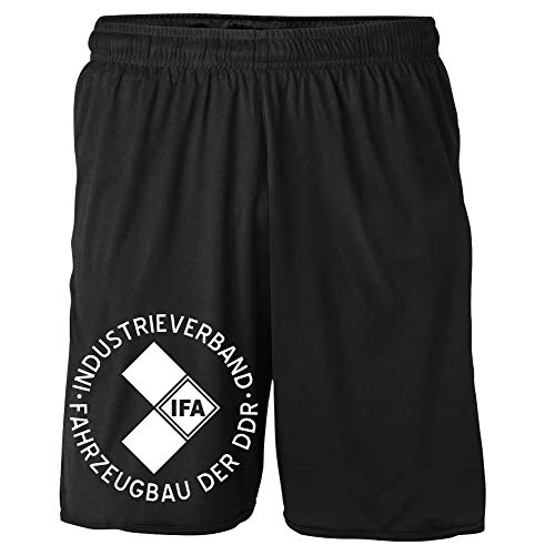 Uglyshirt89 IFA Shorts | DDR Trabant Wartburg Simson Sommer Kurze Hose | M1 (XL)