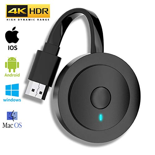 MPIO Wireless HDMI Anzeigeadapter 4K HDR WiFi HDMI Dongle Streaming für Android/iOS/Windows/Mac OS-Laptop, Telefon, Tablet, PC zu HDTV/Monitor/Projektor (Unterstützung Miracast, DLNA, Airplay)