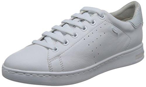 Geox D Jaysen A A, Scarpe da Ginnastica Basse Donna, Bianco (White) 38 EU