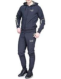 Emporio Armani EA7 combinaison pantalon et sweat-shirt homme fashion blu
