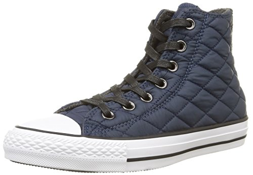 Converse, All Star Hi Textile Quilted Sneaker,Unisex Adulto, Azul (Bleu Nuit), 36