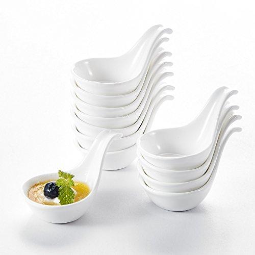 """MALACASA, Serie Ramekin.Dish, 12er 3,75""""/9,5cm SUPER Mini DessertSchäle Set Porzellan Snackschäle Dessert Snack Vorspeise Nachtisch Schälchen DekoSchäle"""